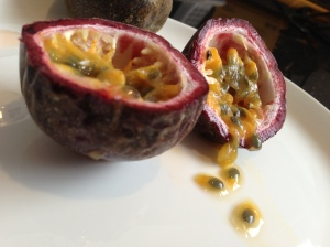 Passionfruit in the middle of winter?  They look so good, I just have to break my seasonal rule today.