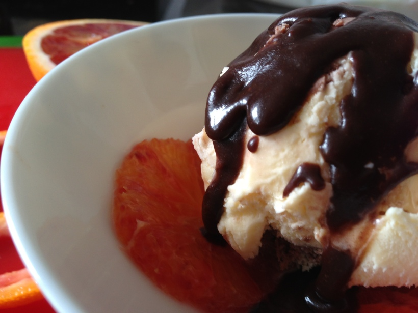 Looks lickable?  Looks good to me! I am definitely no food stylist, so if you have a better photo of your attempts at a Bliss-ed up Hot Fudge Sundae, please post it to my FB page so I can drool over it!